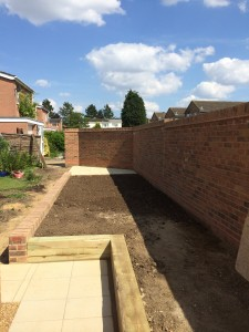 New garden wall (ELY Cambs)