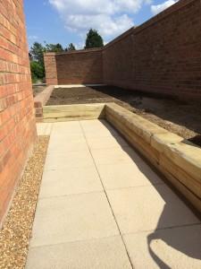 Garden wall Ely Cambs