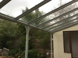 Glass roof Veranda